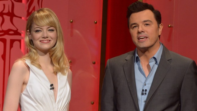 Emma Stone and Seth MacFarlane announced the Oscar nominations (Picture: Getty Images)