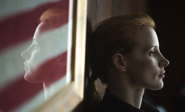 Jessica Chastain has been nominated for an Oscar for her performance in Zero Dark Thirty (Picture: Columbia Pictures)