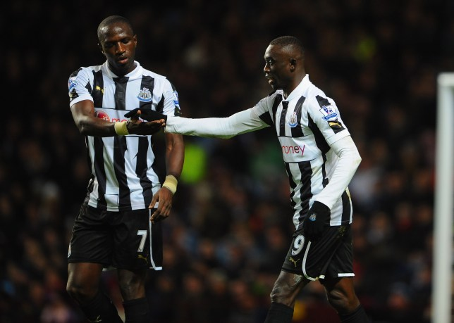 Newcastle gained their first away win of the season at Villa Park to ease their relegation woes (Pictures: Getty)