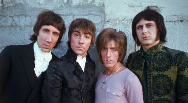 Pete Townshend (far left) and Roger Daltry (second right) with former Who bandmates  Keith Moon (second left) and John Entwhistle ( far right) (Picture: Alamy)