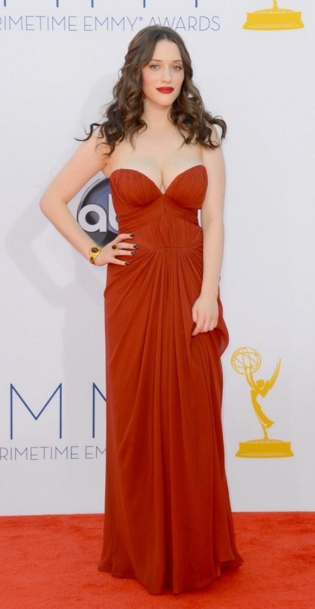 Kat Dennings at Emmy awards