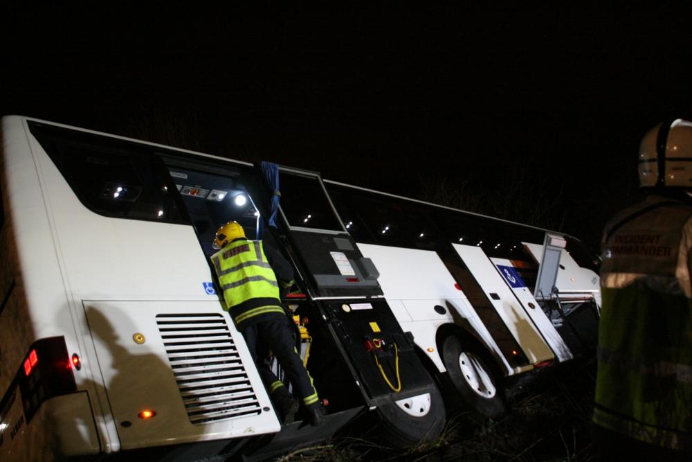 M3 coach crash