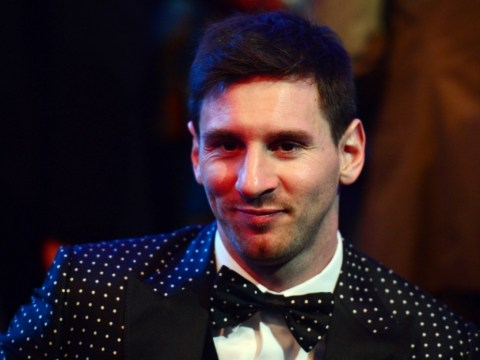 Lionel Messi in a spot of bother at Ballon d'Or gala