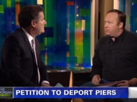 Pro-gun advocate Alex Jones rants at Piers Morgan in studio 'debate'