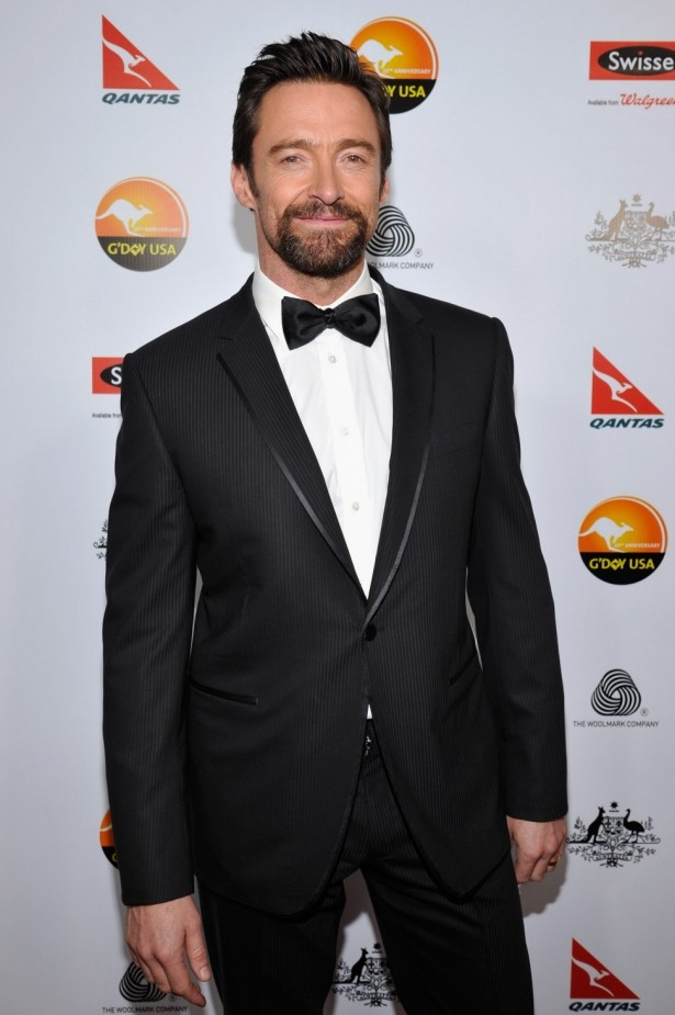 Australian actor Hugh Jackman arrives at the 2013 G'Day USA Los Angeles Black Tie Gala at the JW Marriott Los Angeles (Getty)