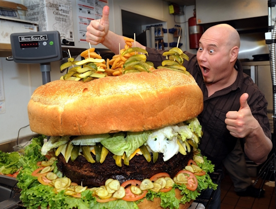 Gallery: World's largest Beef Burgers – No Horse meat here