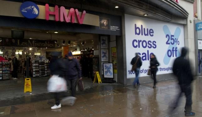 Problems: HMV (Picture: AFP)