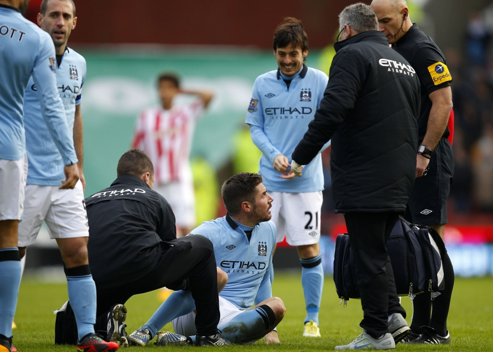 Manchester City's Javi Garcia