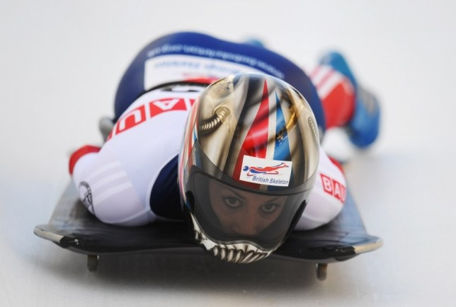 Ice cool: Shelley Rudman in action in St Moritz (Picture: Getty Images)