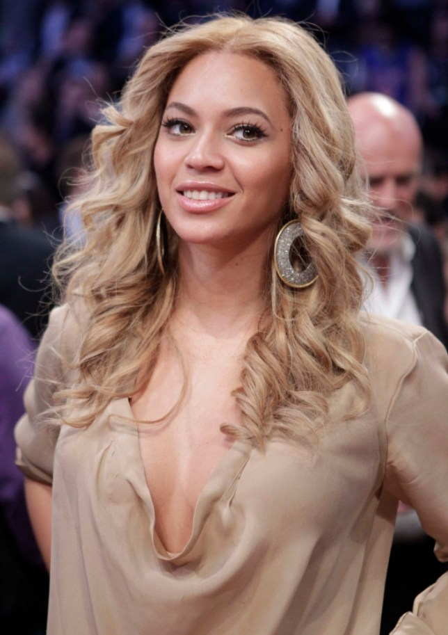 Beyonce at the NBA basketball All-Star Game