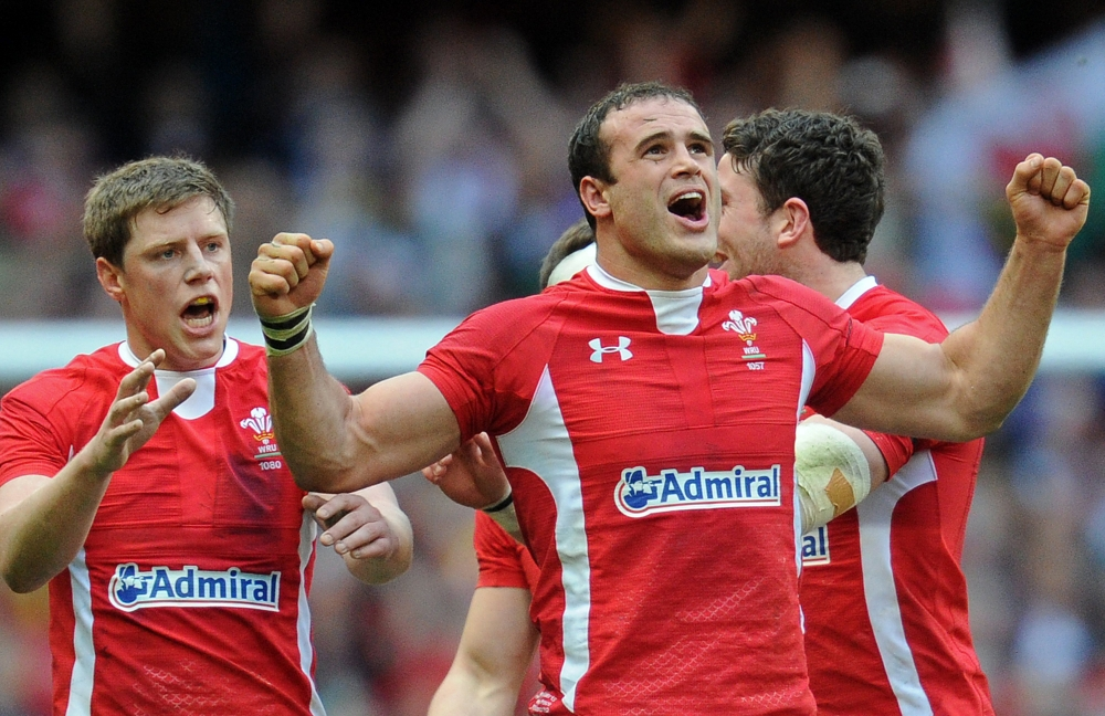 Wales celebrate last year's Six Nations triumph