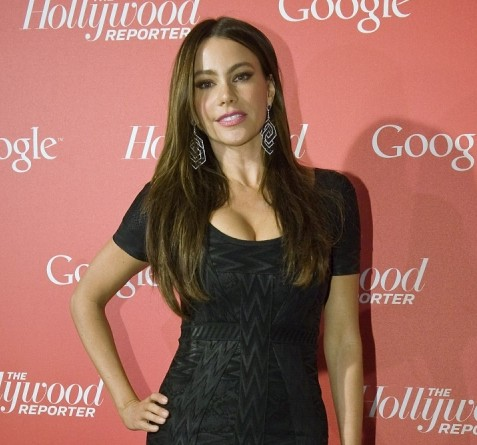 Sofia Vergara 'falls out of ripped party frock after club row with lover'