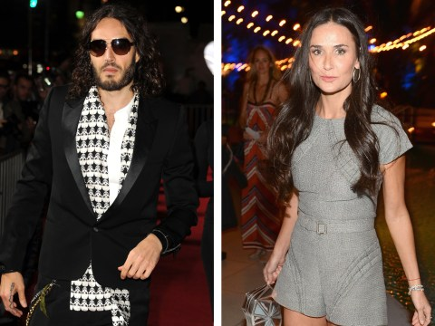Russell Brand and Demi Moore bonding over yoga?