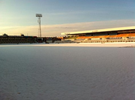 Hartlepool United's Victoria Park was under a blanket of white this morning (Picture: HUFC)