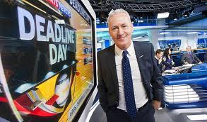 Gallery: Jim White of Sky Sports News transfer deadline day special 2014