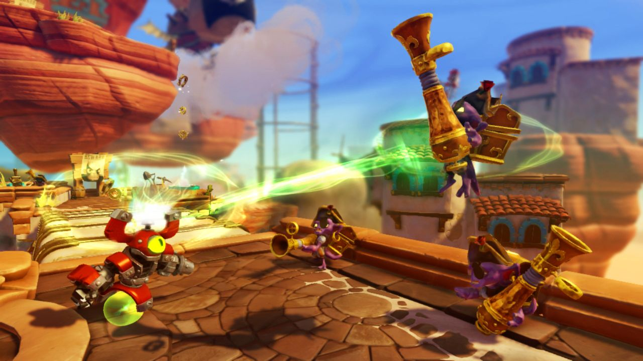Skylanders: Swap Force – Magna Charge essentially has a Half-Life 2 style gravity gun built into his head
