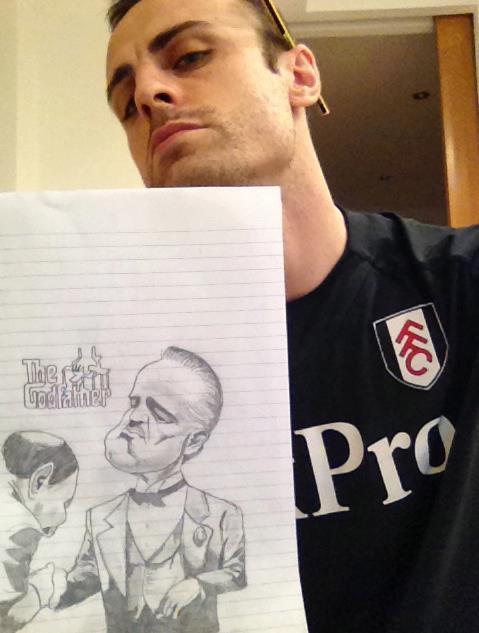 Dimitar Berbatov wows Facebook fans with celebrity sketches