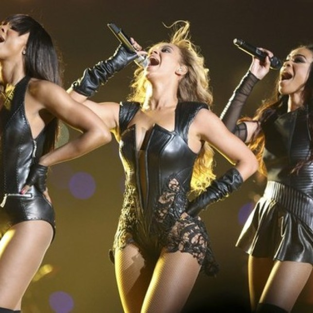 Beyonce (C) and Destiny's Child perform during the half-time show of the NFL Super Bowl XLVII football game in New Orleans, Louisiana, February 3, 2013. (Picture: REUTERS)