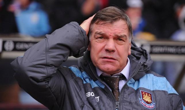 West Ham manager Sam Allardyce looks on (Getty)