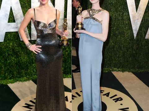 Jennifer Lawrence v Anne Hathaway at the Oscars after-party: Hot or not?