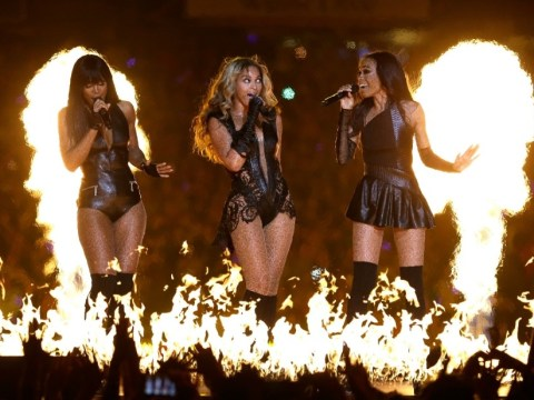 Beyonce's electrifying half-time Super Bowl performance goes off with a bang as Destiny's Child reunite on stage