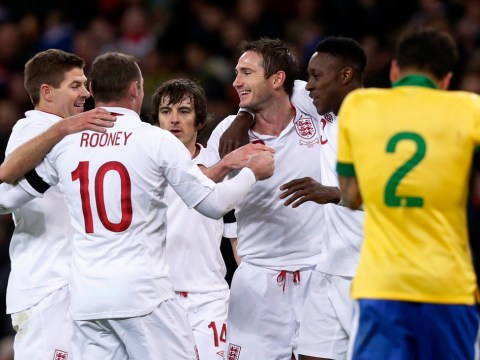 Frank Lampard earns England impressive victory over Brazil at Wembley