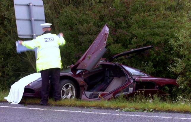 Rowan Atkinson McLaren F1 crash