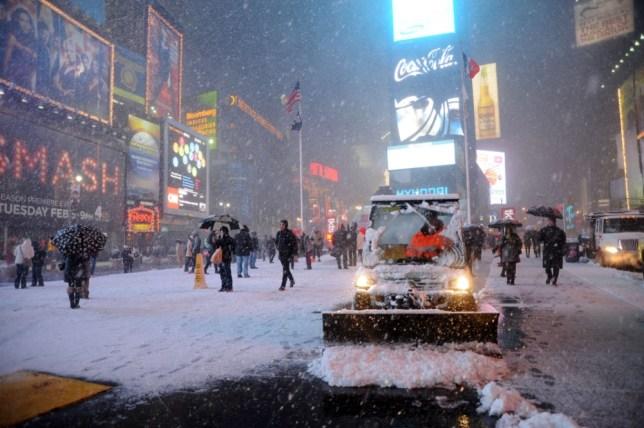 Blizzard storm batters US north-east
