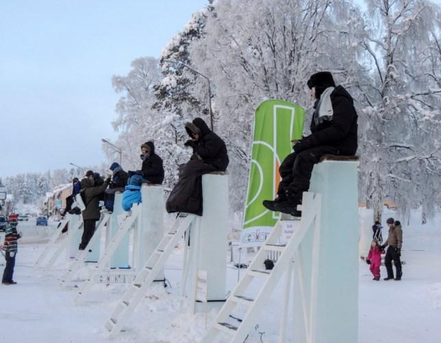 pole-sitting, Vilhelmina, Northern Sweden