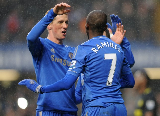 Fernando Torres and Ramires combined to give Chelsea the lead against Wigan (Picture: Getty)