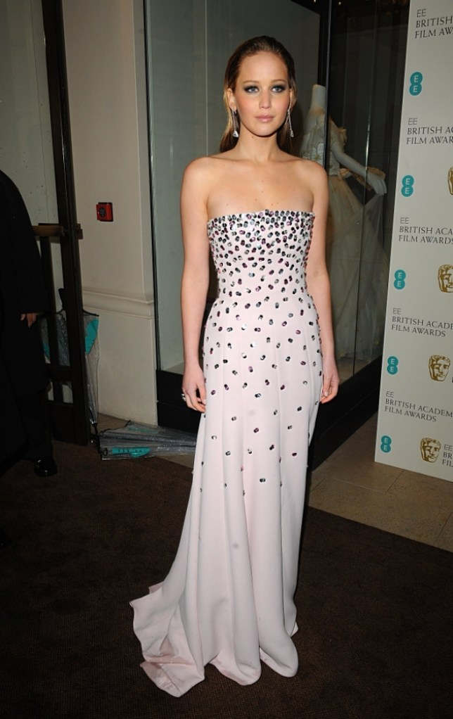 Jennifer Lawrence arriving for the 2013 British Academy Film Awards at the Royal Opera House, Bow Street, London.