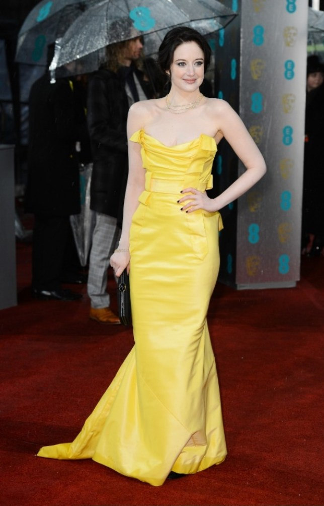 Andrea Riseborough attends the EE British Academy Film Awards at The Royal Opera House