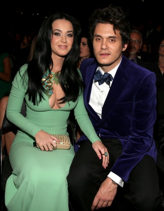 Katy Perry and John Mayer at the Grammys 2013