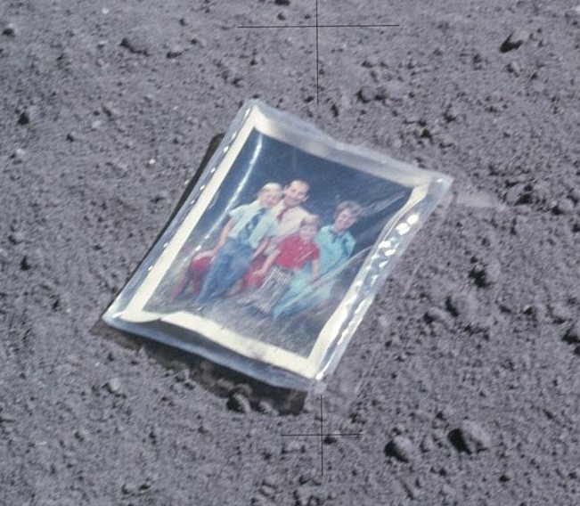 Family photo taken by Apollo 16 astronaut Charles Duke discovered on Moon's surface