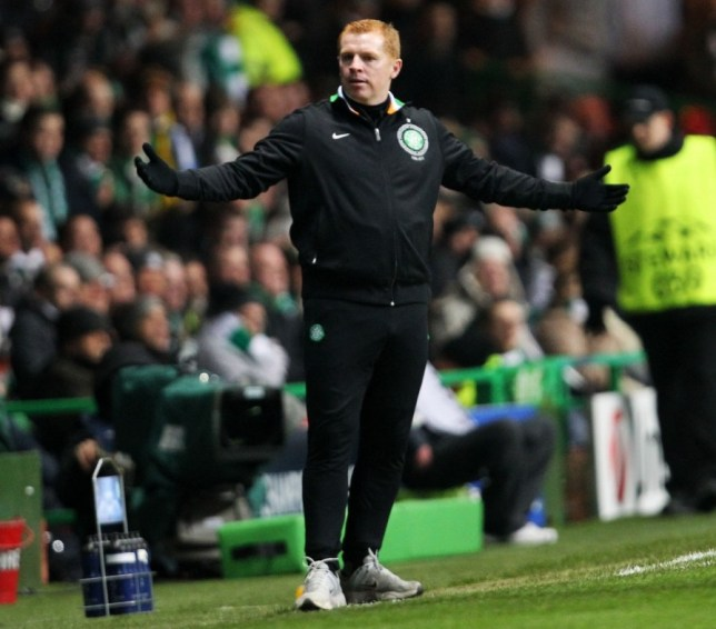 Are you sure?: Celtic boss Lennon gestures to officials during the defeat to Juventus (Picture: PA)