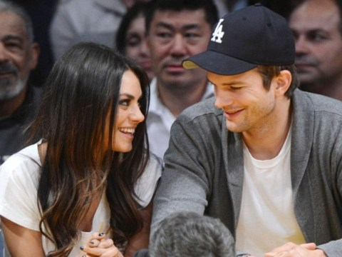 Here comes the bride? Mila Kunis hints at engagement to Ashton Kutcher with gold band on ring finger