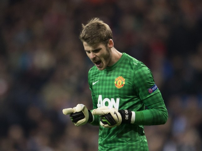 Manchester United's Spanish goalkeeper David de Gea
