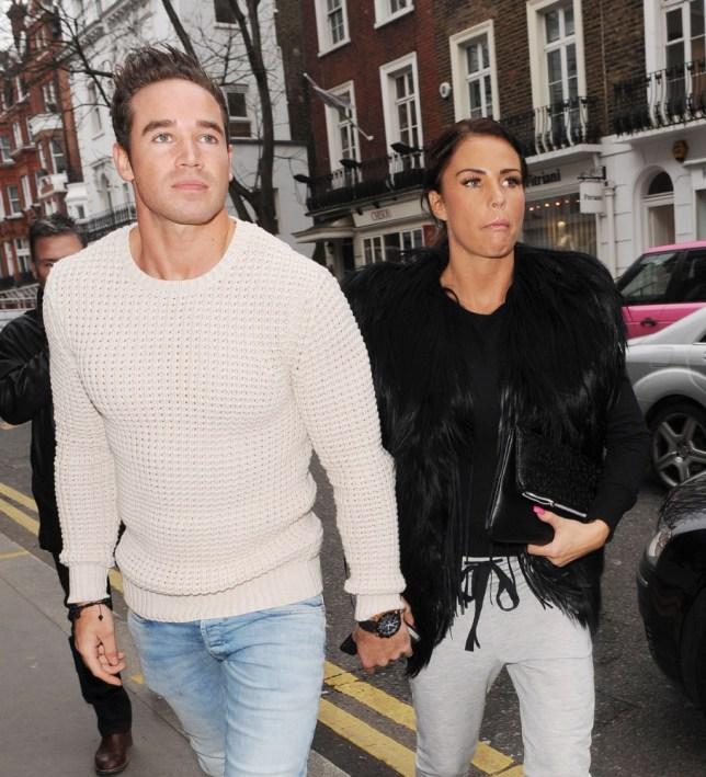 Kieran Hayler and Katie Price in London