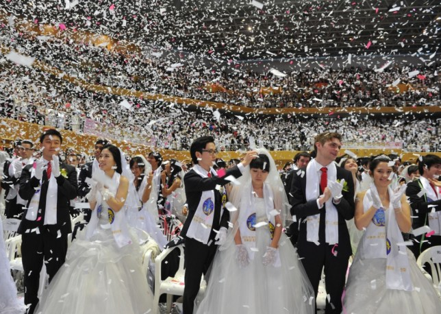 Mass wedding, South Korea