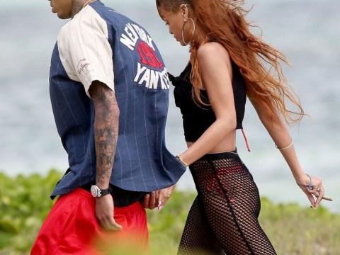 Rihanna and Chris Brown enjoy romantic birthday stroll in Hawaii