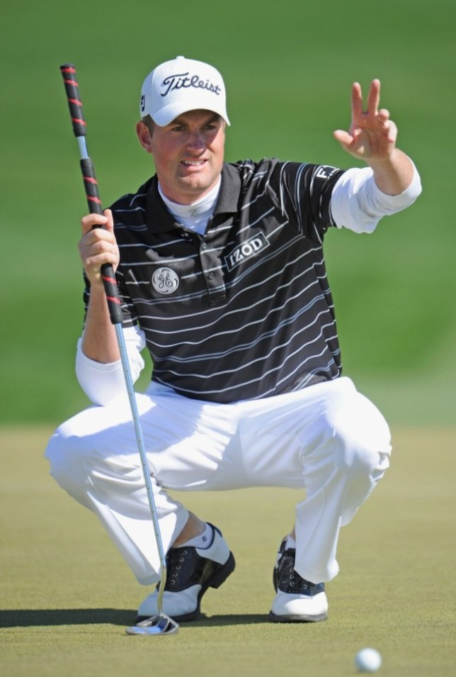 Unfair advantage? US Open winner Webb Simpson uses a belly putter (Picture: Getty)