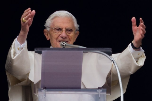 Pope Benedict XVI asked his Twitter followers to pray for him and the Church