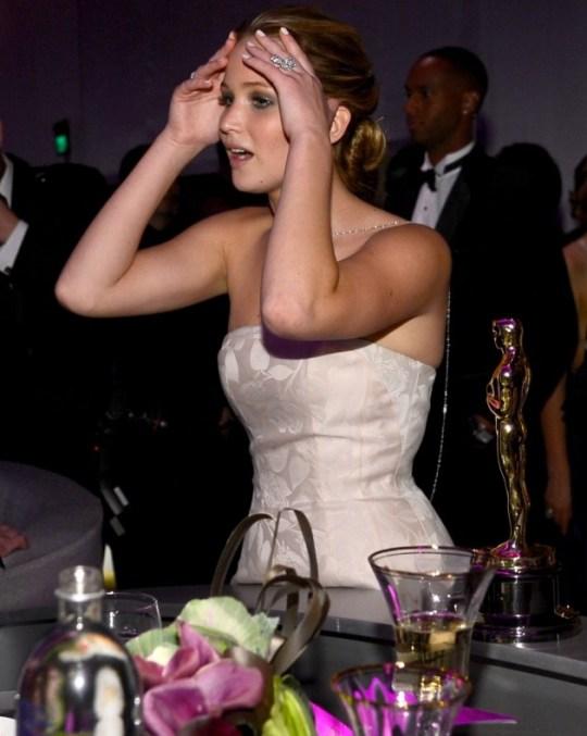 Jennifer Lawrence was stunned by her Oscar win