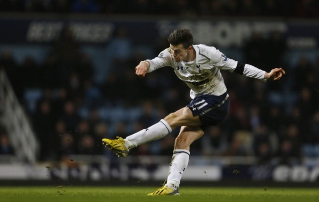 Sweet strike: Bale hits his 90th-minute winner to send Spurs into third (Picture: Reuters/Action Images)