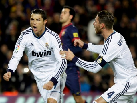 Cristiano Ronaldo warms up for Manchester United clash with Barcelona brace