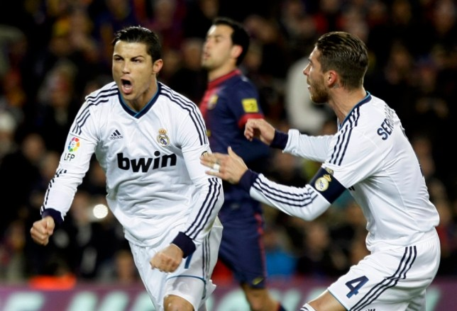 Cristiano Ronaldo helped Real Madrid see of Barcelona in the Copa del Rey (Picture: Reuters)
