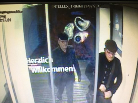 Fake pensioner twins rob Swiss bank but police see through disguise