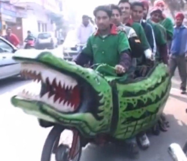 Crocodile motorcycle