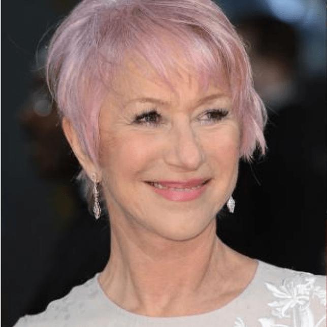 Helen Mirren debuts pink hair at the baftas 2013
