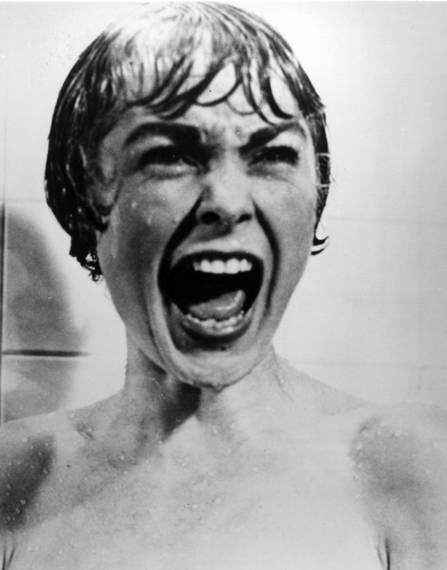 Janet Leigh screams in Psycho's famous shower scene